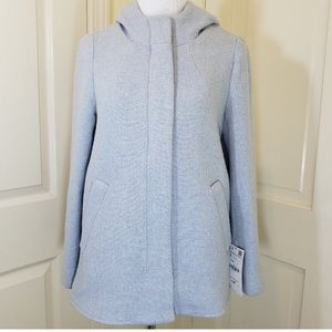 Zara coat baby blue grey new without a tag